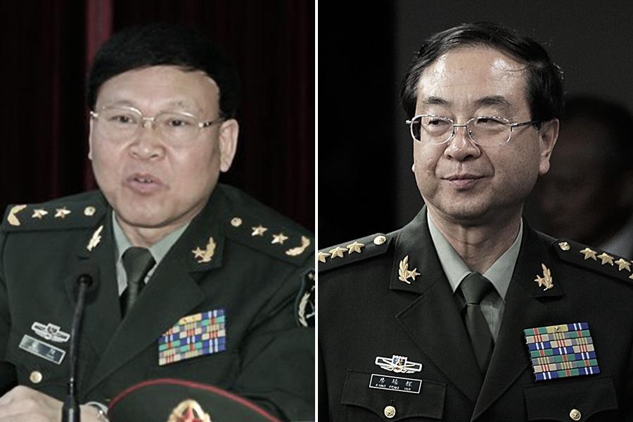 9月28日,外媒再次追問中共國防部發言人有關房峰輝、張陽的去向。(Feng Li/Getty Images、網絡圖片/合成圖片)