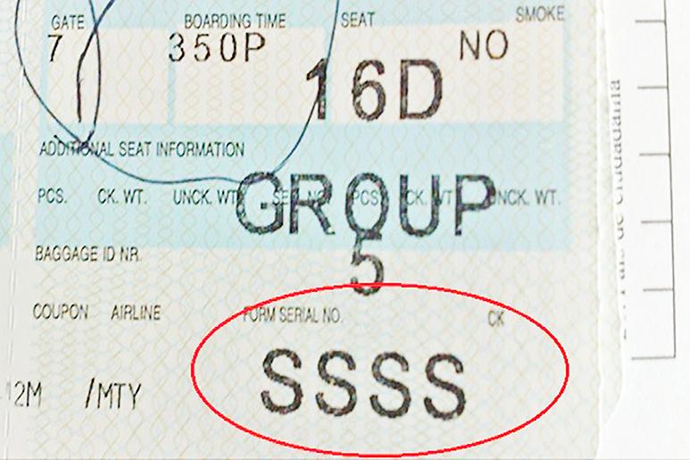 赴美登機卡上現「SSSS」要留意
