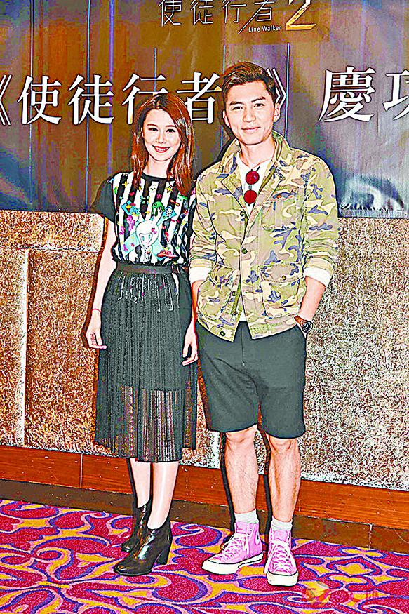 袁偉豪(右)與黃翠如在《使》劇中有很多對手戲。(網絡圖片)