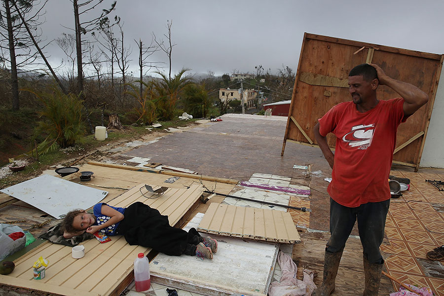 這位居民的房屋已不見蹤影。(Joe Raedle/Getty Images)