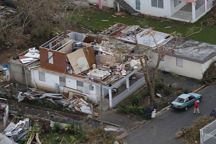 屋頂被掀開。(Joe Raedle/Getty Images)