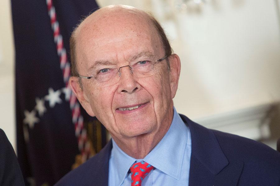 美國商務部長羅斯(Wilbur Ross)表示,總統的301懲罰性決定不會引發中美貿易戰,雖然美方預計中共會報復,但他相信最終會和解收場。(Chris Kleponis-Pool/Getty Images)