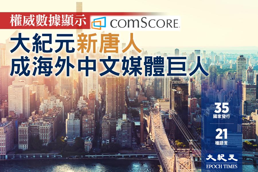 權威數據顯示 大紀元新唐人成海外中文媒體巨人