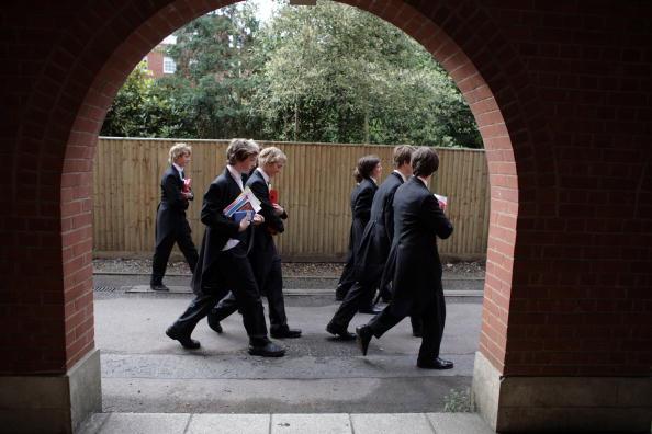 伊頓的學生們。(Christopher Furlong/Getty Images)
