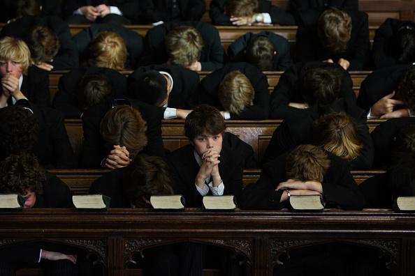 伊頓學生。(Christopher Furlong/Getty Images)