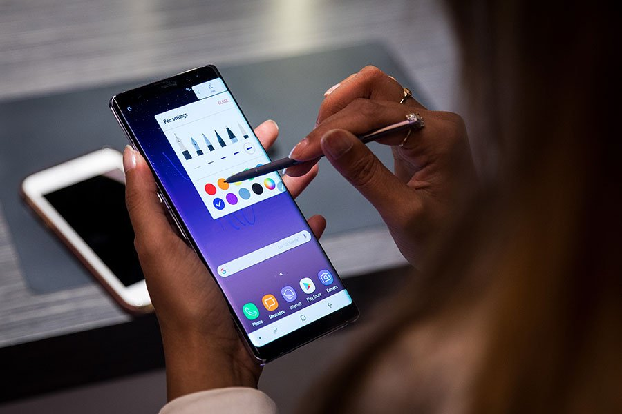 Samsung Galaxy Note8。(Drew Angerer/Getty Images)