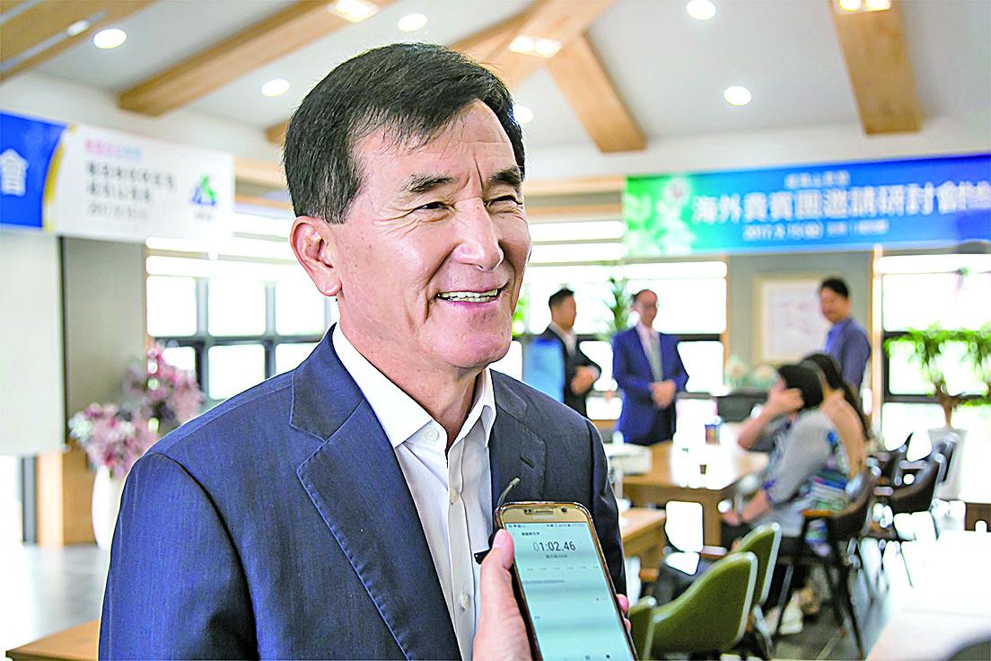 咸陽郡郡守林昌浩先生表示:「希望我們咸陽的抗老化產品和香港的技術及資金相結合,從而推動相互間的共同發展。」(大紀元/全景林攝)
