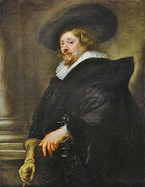 巴洛克藝術,最具代表性的畫家魯本斯自畫像,1638至1640年。