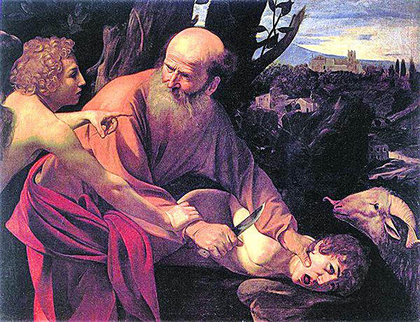 卡拉瓦喬「以撒的犧牲」。