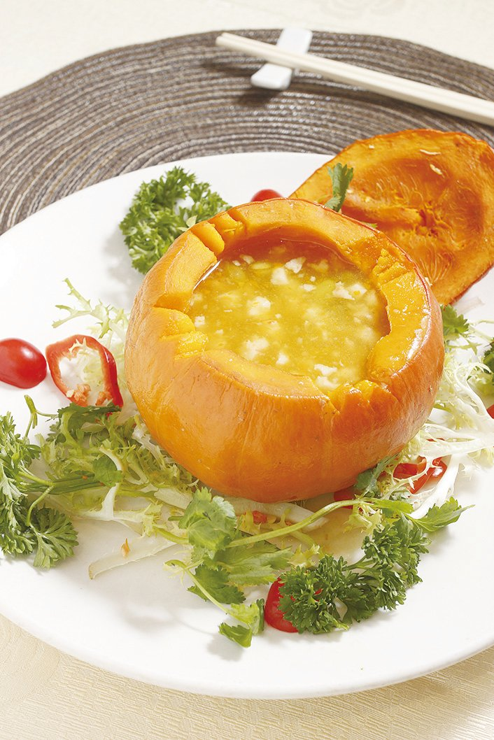 普光齋的原個南瓜湯。