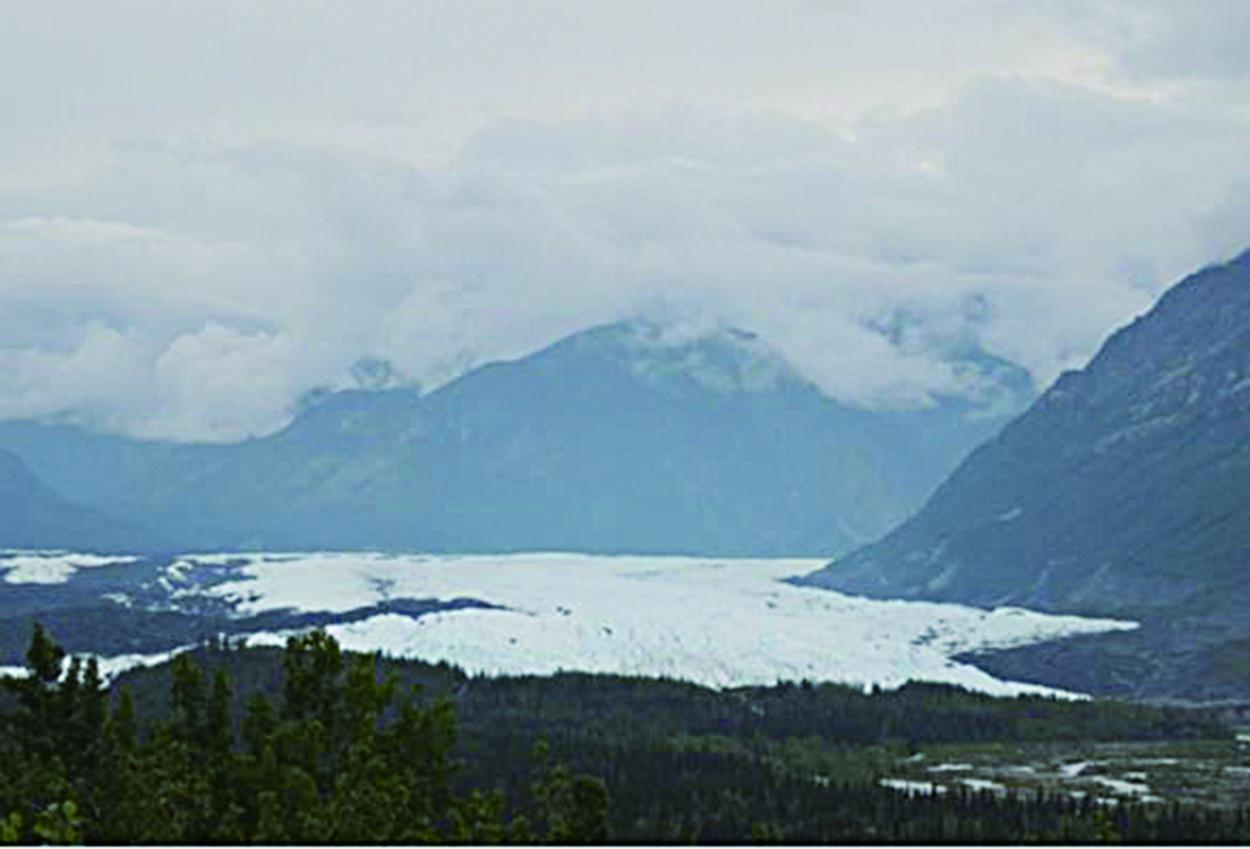 馬塔努斯卡冰川。(北國散人)