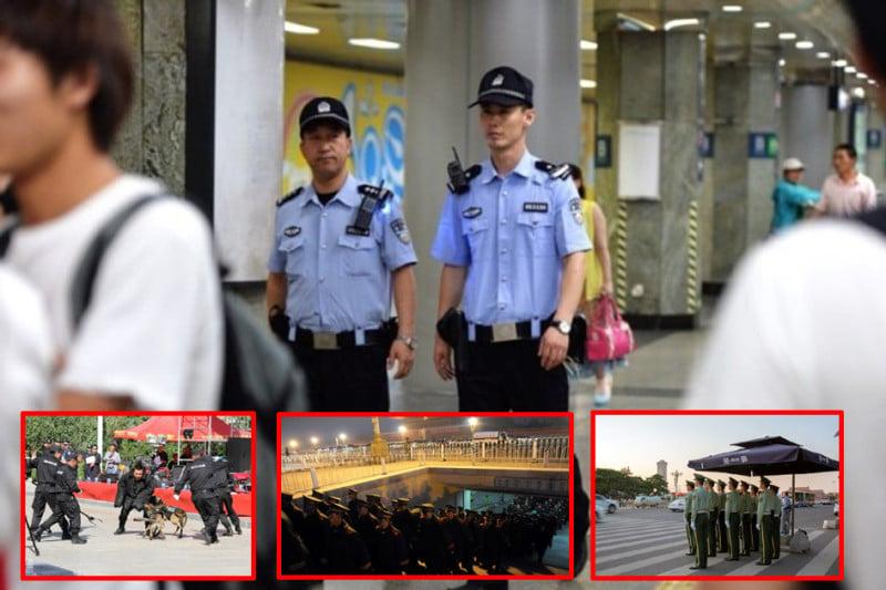 中共十九大臨近,大陸各地保安監控全面提升。(網絡圖片/新唐人合成)