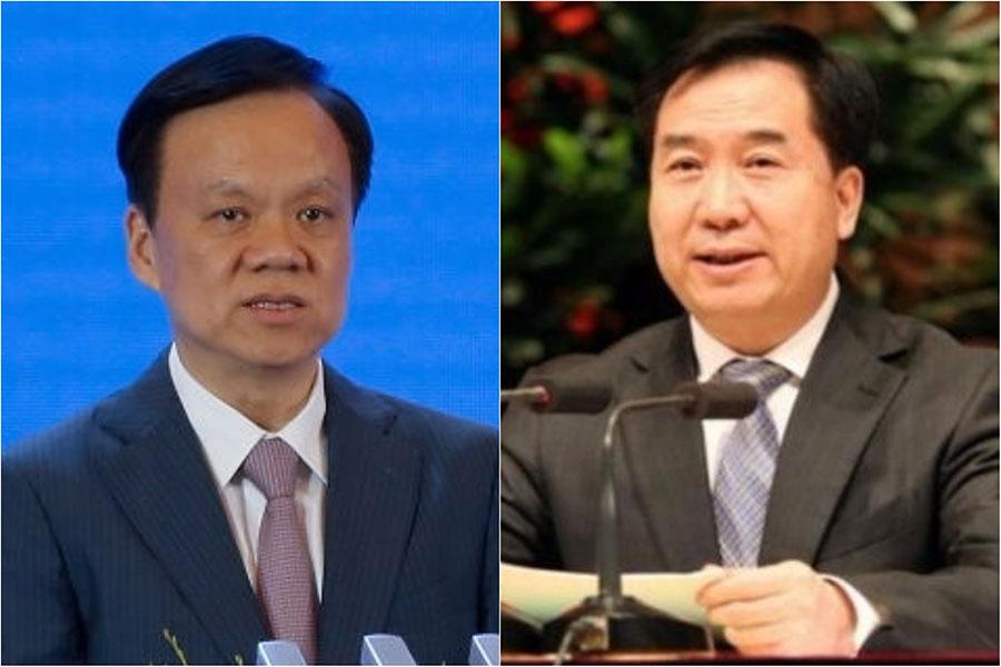 台媒說,習近平的舊部陳敏爾(左)有望躋身中共政治局常委,李希(右)有望調任重慶市委書記。(大紀元合成圖)