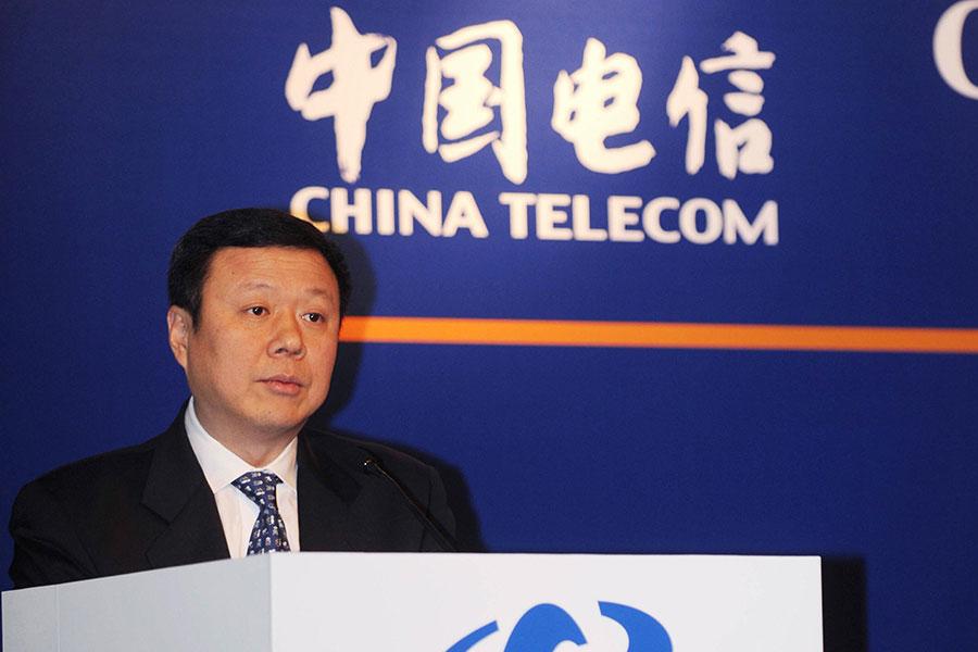 江綿恆把持的中國聯通的董事長王曉初最終未能進入中共十九大代表名單。(MIKE CLARKE/AFP/Getty Images)