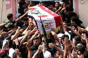 伊神槍手陣亡民眾送葬 曾狙殺三百多名IS