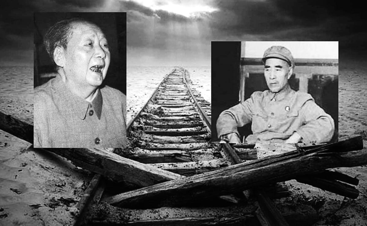 林彪不惜出賣人格為毛澤東站台、捧場,得到一個「接班人」的位置,卻馬上被逼迫表態讓賢。林彪培養兒子做接班人,他們之間的矛盾開始激化。(大紀元合成)