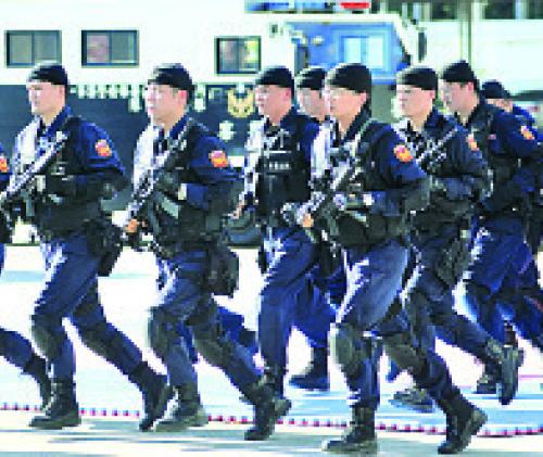 台灣當局近期將執行雙北地區聯合掃黑,打擊幫派據點。(AFP)