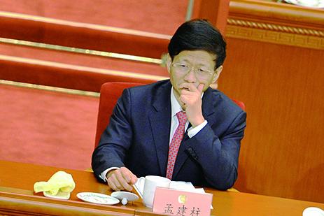「夢見豬」和中共政法委書記孟建柱諧音。(AFP)