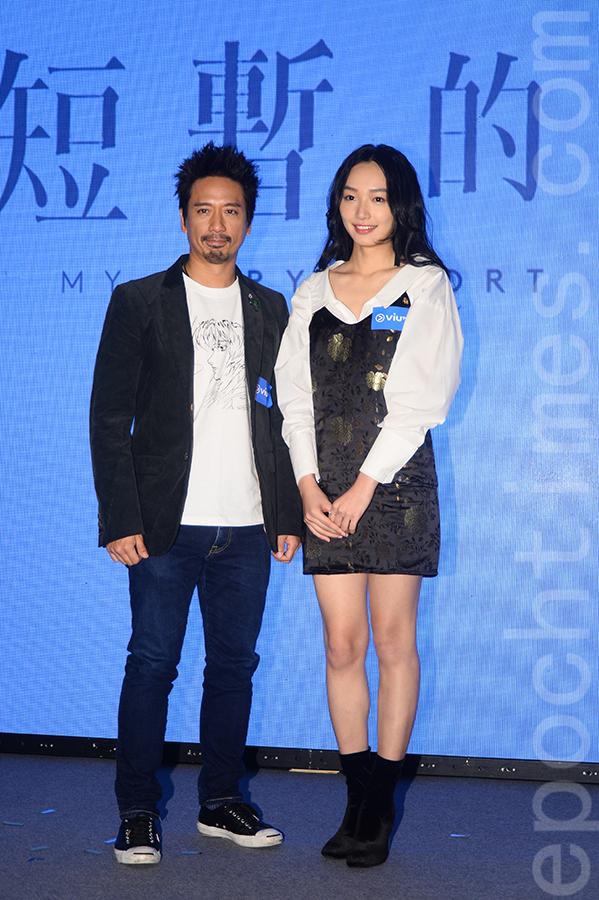 Eric Kwok與蔡思韵在《短暫的婚姻》音樂劇中飾演一對夫妻。(宋碧龍/ 大紀元)