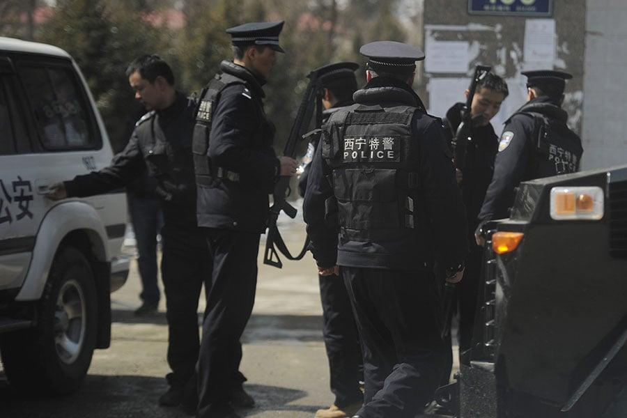 中共採取各種手段對民眾進行監控,其經費也遠遠大於軍費。(PETER PARKS/AFP/Getty Images)