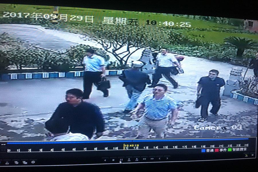 「十九大」前,中共對環保鬥士吳立紅進行騷擾。(吳立紅提供)