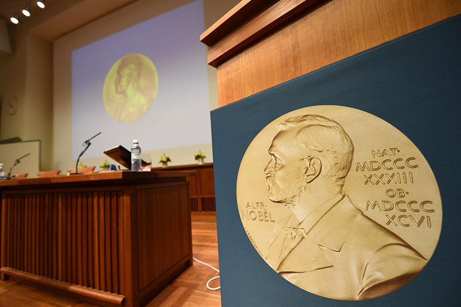 自1901年設立諾貝爾獎以來,由於第一次和第二次世界大戰期間9次停頒獎,諾貝爾生理學或醫學獎未獲頒獎外,共頒發了108次。(JONATHAN NACKSTRAND/AFP/Getty Images)