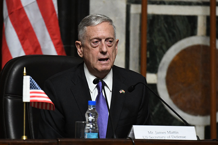 美防長:支持國務卿藉外交解決北韓威脅
