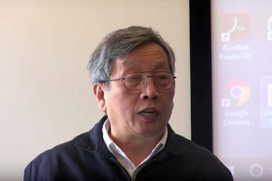 中共「十九大」與中國未來局勢研討會,胡平演講。(視像擷圖)