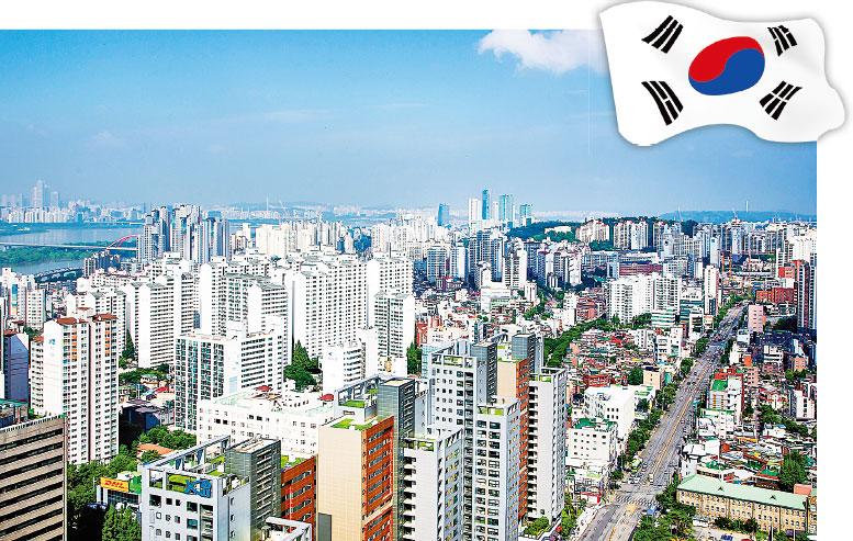 俯瞰首爾市一角。(Newsis提供)