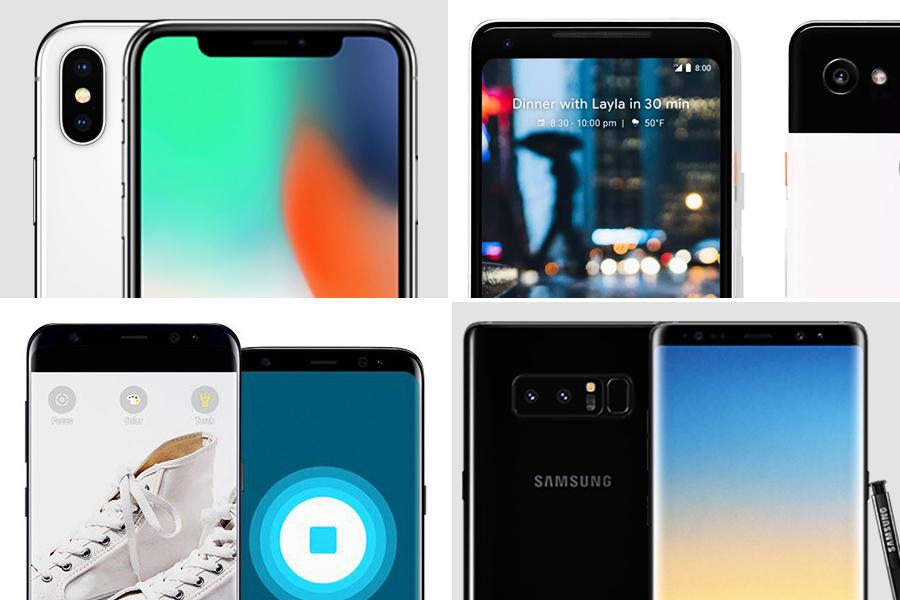 谷歌新款Pixel2、iPhone和三星手機大比拼