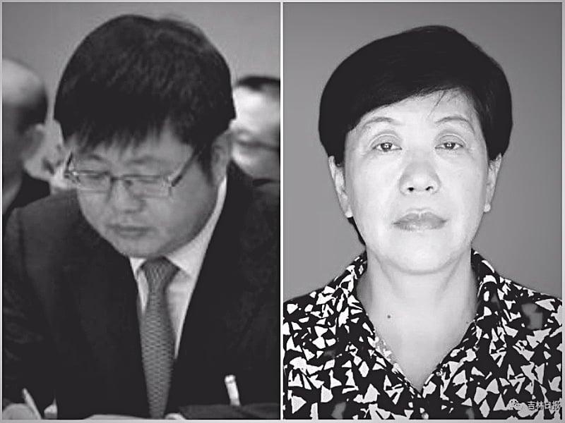白山市政府副秘書長鄭亨日(左)和白山市委前副秘書長賀英(右)相繼被審查。(合成圖片)