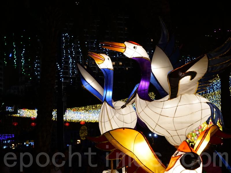 各式可愛動物造型花燈。(郭威利/大紀元)