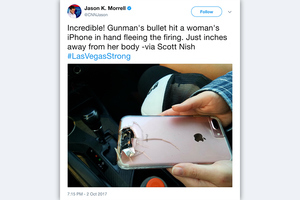 女子在賭城與死神擦身而過 竟是iPhone救命