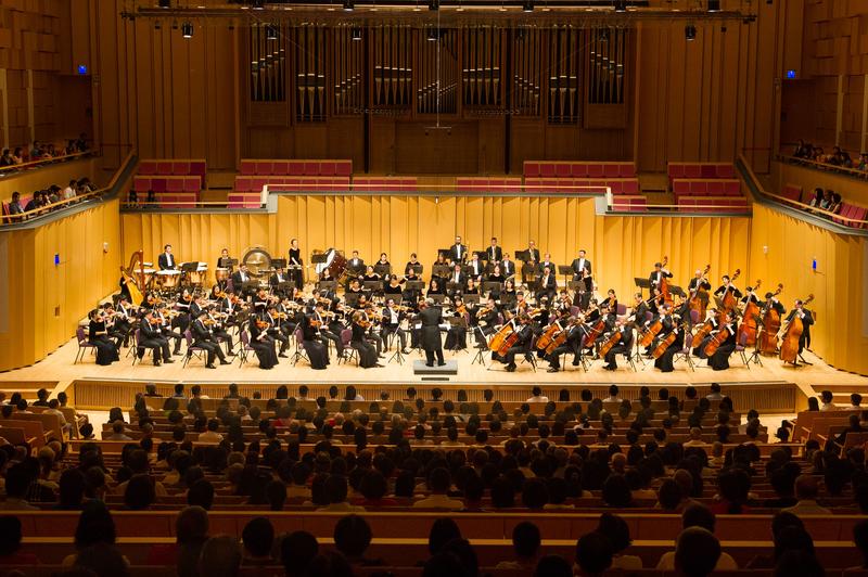 2017年9月24日午,神韻交響樂團於屏東演藝廳演出。(羅瑞勳/大紀元)