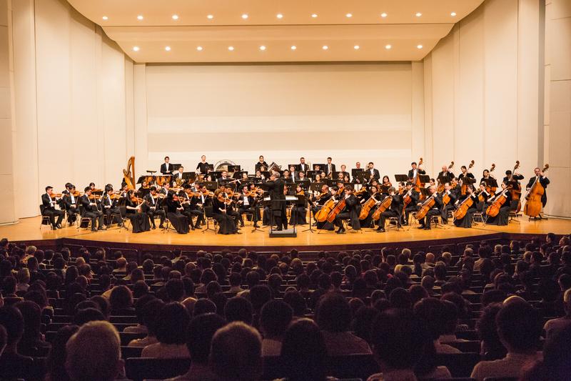 2017年9月29日晚上,神韻交響樂團於台南市文化中心演出。(陳霆/大紀元)