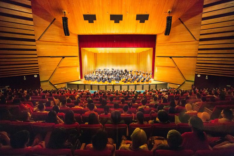 2017年10月1日下午,神韻交響樂團於台中市中山堂演出。(陳霆/大紀元)