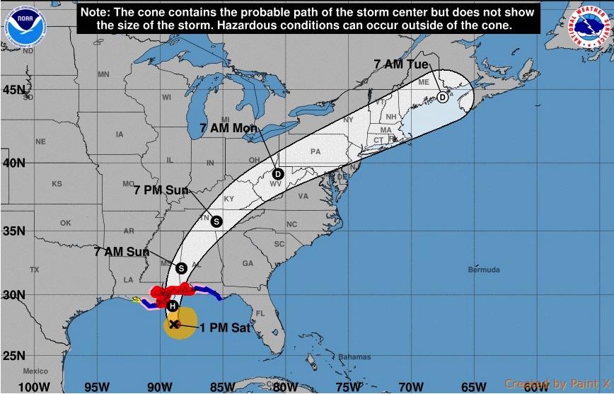美國本周迎來哥倫布日長周末假期,但對於在東南部各州沿岸地區的居民來說,這個假期並不輕鬆,要做好迎戰颶風納特的萬全準備。(NOAA)