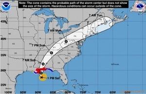 二級颶風納特七日晚登陸 新奧爾良嚴陣以待