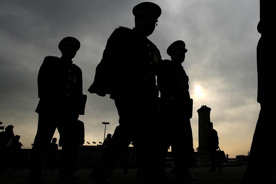 武警高層北京集體露面 新裝備部長現身