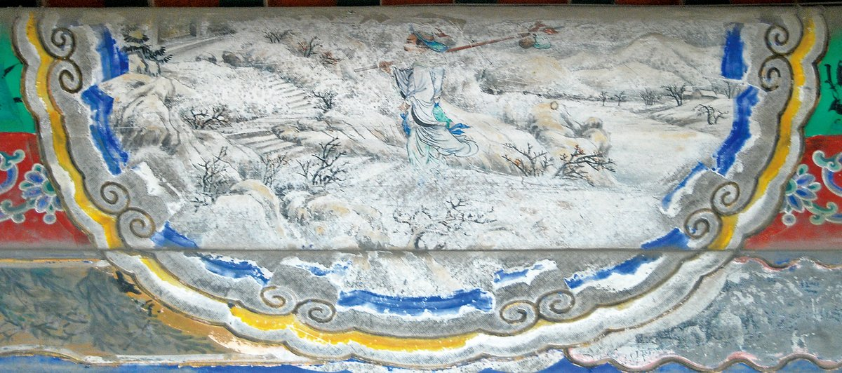 頤和園長廊彩繪:林冲風雪山神廟(公有領域)