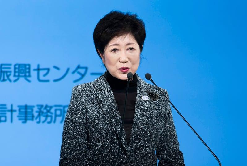 日本東京都知事小池百合子表示,其所成立的希望之黨,目的是要給選民一個「中庸之道」的選擇。(Tomohiro Ohsumi/Getty Images)