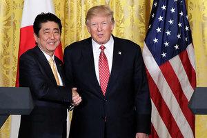 安倍:日本支持特朗普的北韓政策立場