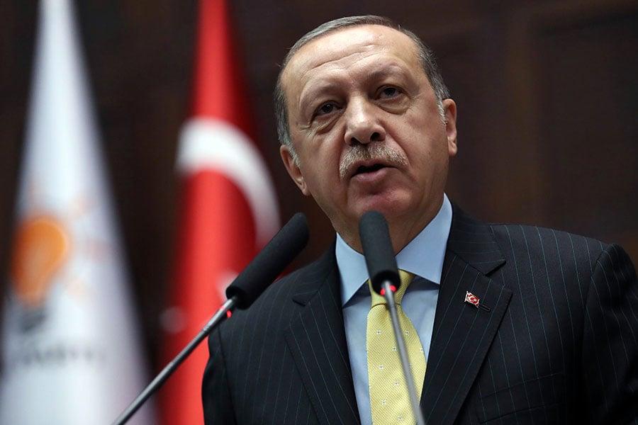 圖為土耳其總統埃爾多安。(ADEM ALTAN/AFP/Getty Images)