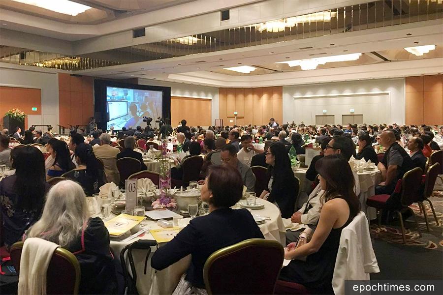 大紀元新唐人媒體集團成立17周年晚宴10月7日在洛杉磯環球希爾頓酒店舉行,嘉賓雲集。(姜琳達/大紀元)