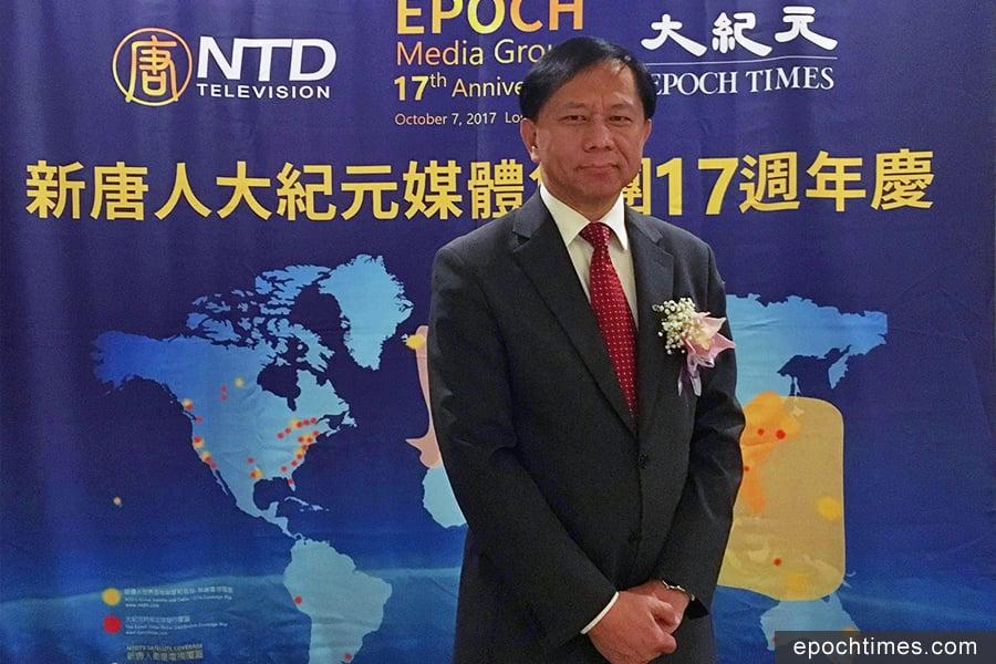南卡羅萊納大學艾肯商學院教授謝田博士從經濟角度來破解中國社會迷思。(姜琳達/大紀元)