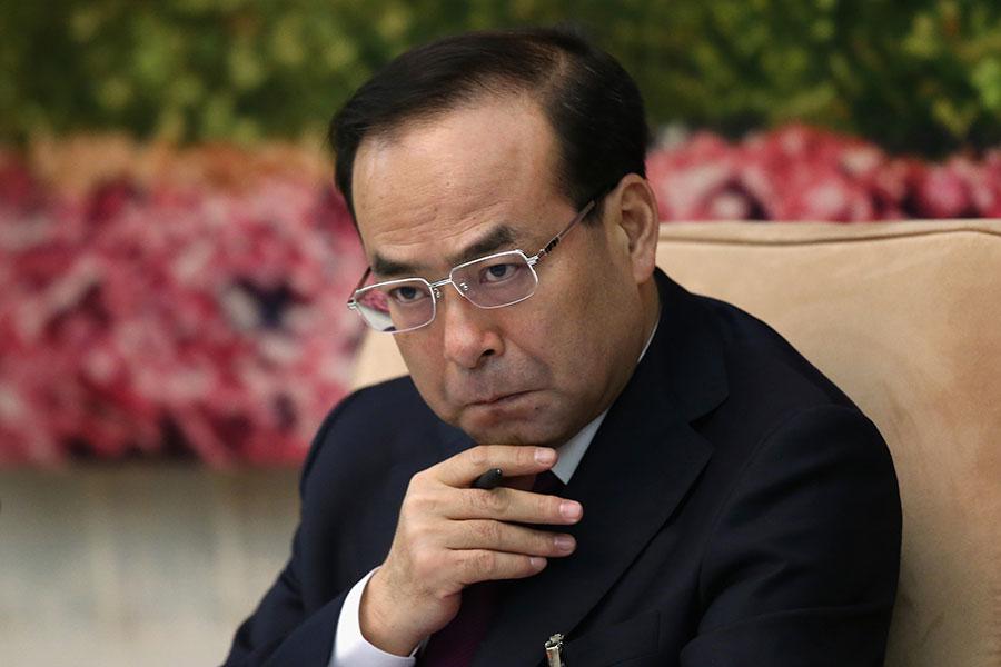 7月24日官方宣佈孫政才嚴重違紀被立案審查。(Feng Li/Getty Images)