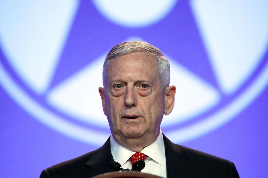 國防部長馬蒂斯周一(10月9日)表示,面對北韓政權的持續挑釁,美軍「必須準備好」。(Mark Wilson/Getty Images)