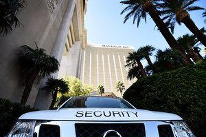 美賭城掃射前遭槍擊的酒店保安消失
