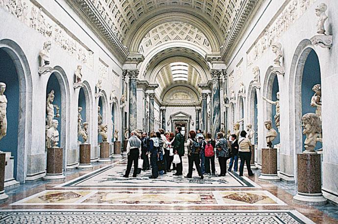 梵蒂岡博物館內部。(維基百科)