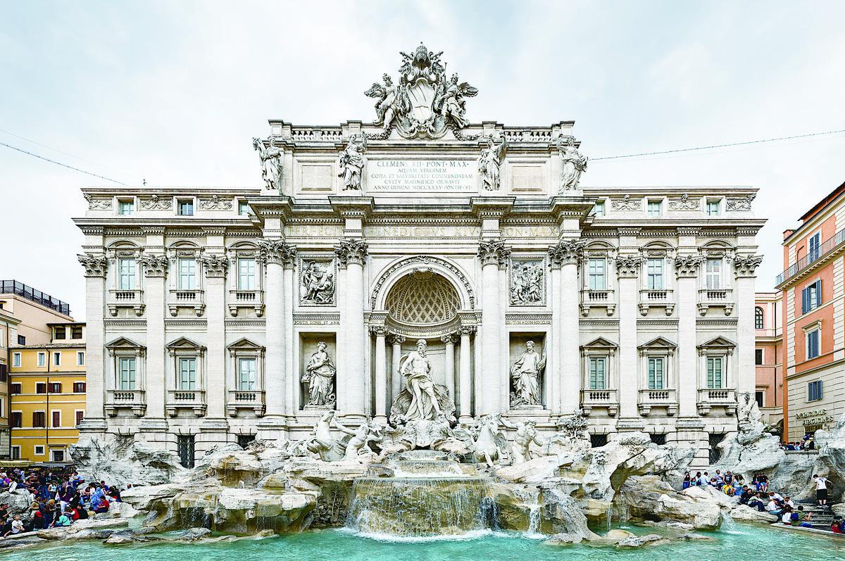 氣勢磅礡的特萊維噴泉。(維基百科)